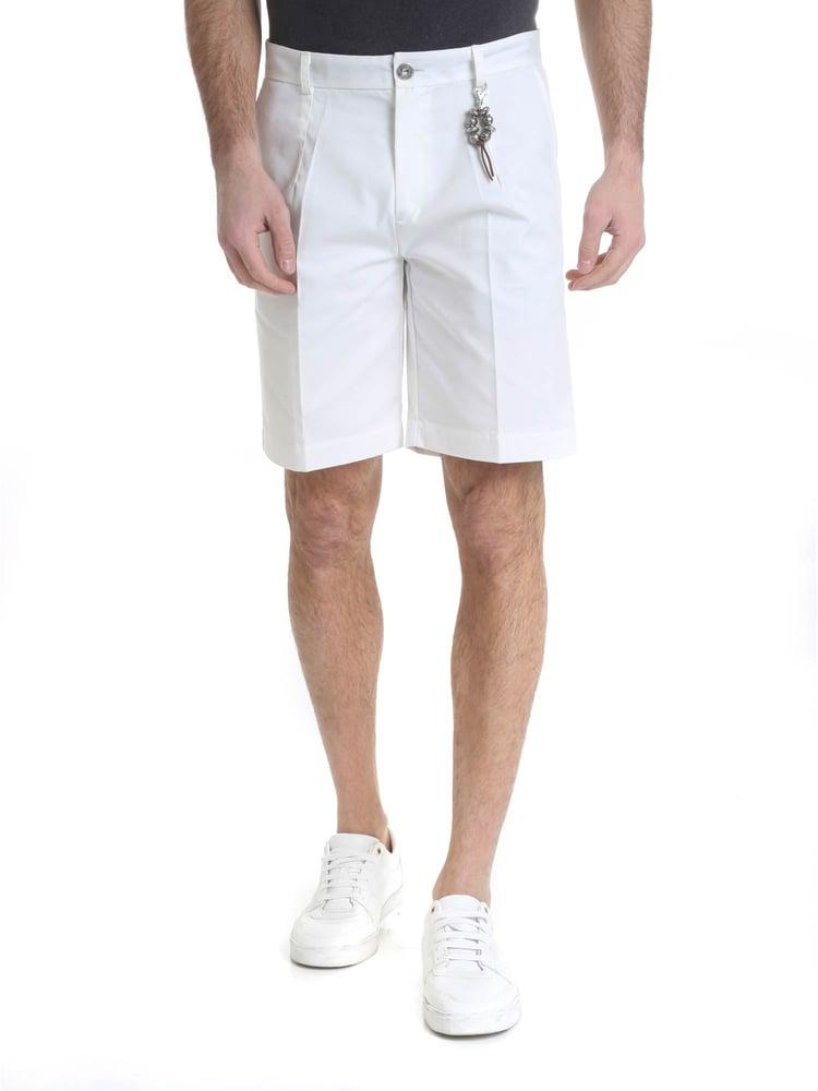 Image of Pantalone bermuda cotone bianco R97 C-B