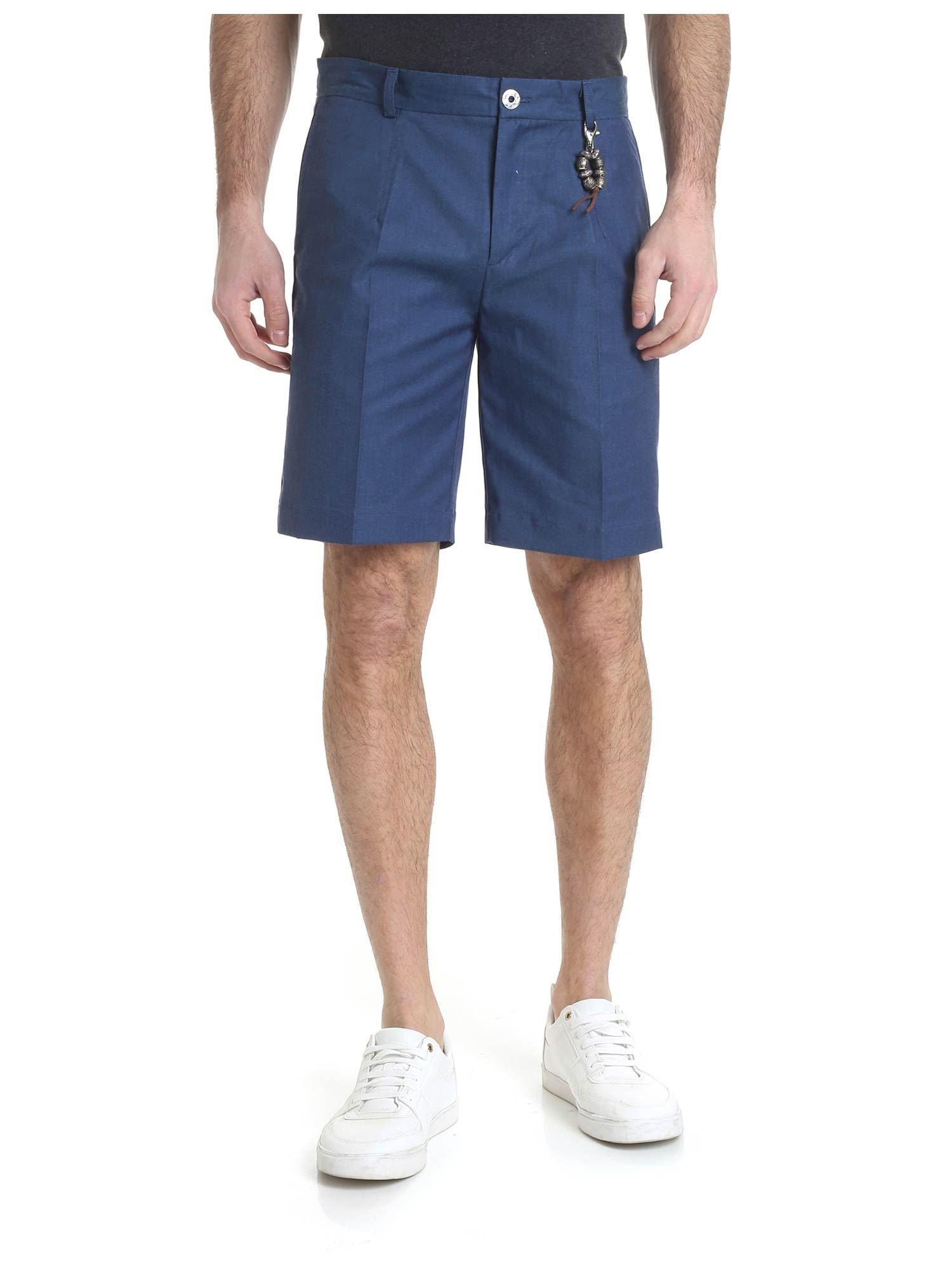 Image of Pantalone bermuda cotone blu Capri R97 C-BC