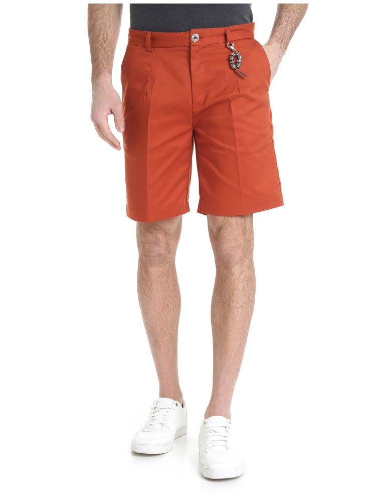Image of Pantalone bermuda cotone rosso ruggine R97 C-RR