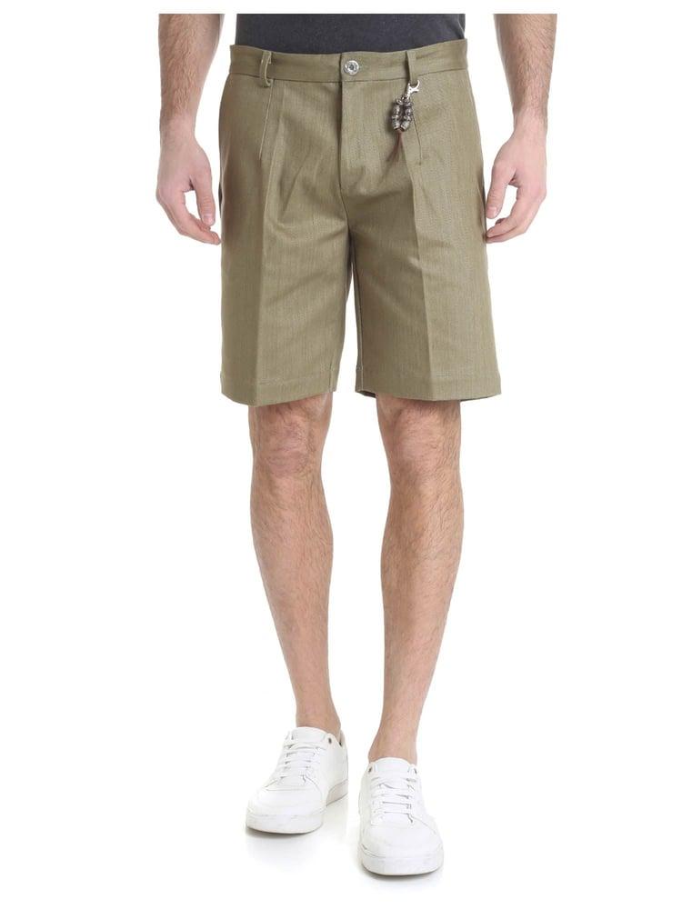 Image of Pantalone bermuda denim verde oliva R97 D-VO