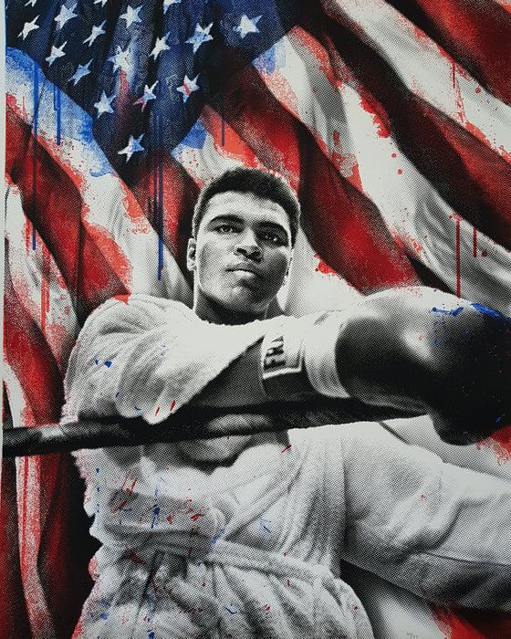 "Image of MR BRAINWASH - ""AMERICAN HERO"" LTD ED 77"