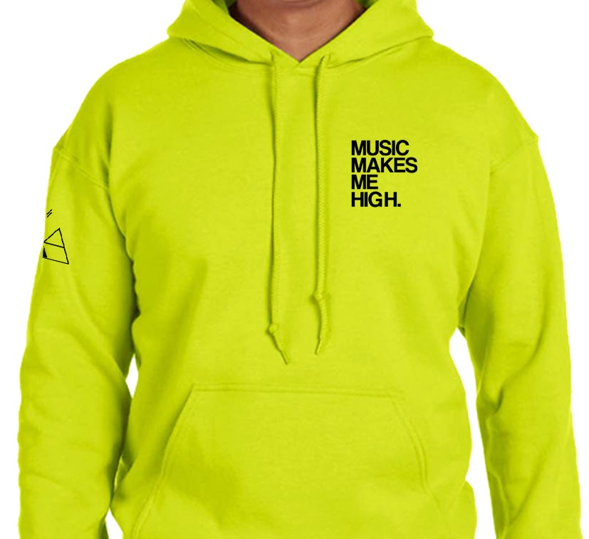 Image of *MMMH SIGNATURE HOODIE* SAFETY GREEN (UNISEX)
