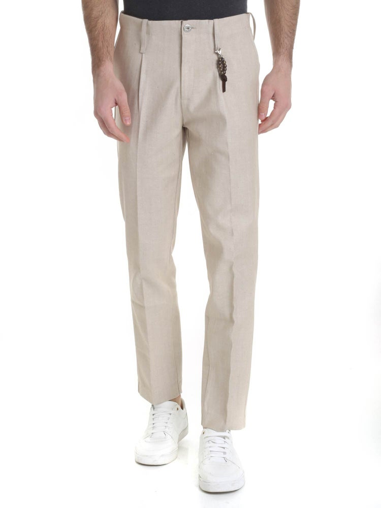 Image of Pantalone denim beige 1 pince R94 D-BE
