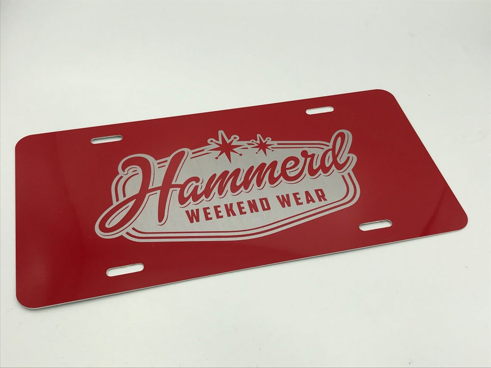 Image of HammerD license plates