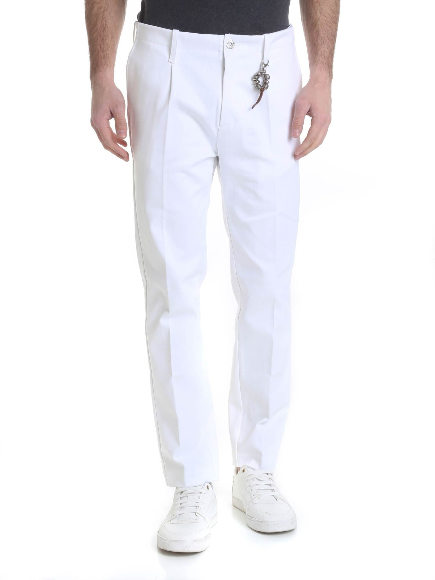Image of Pantalone in denim bianco con 1 pince R92 D-B