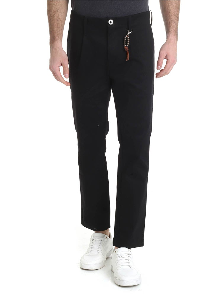 Image of Pantalone in denim nero con 1 pince R92 D-N