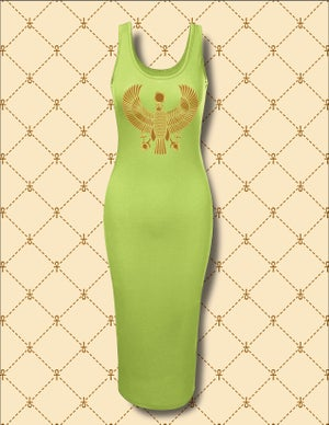 Image of Gold HRU Slim Fit Stretchy Tank Midi Dress