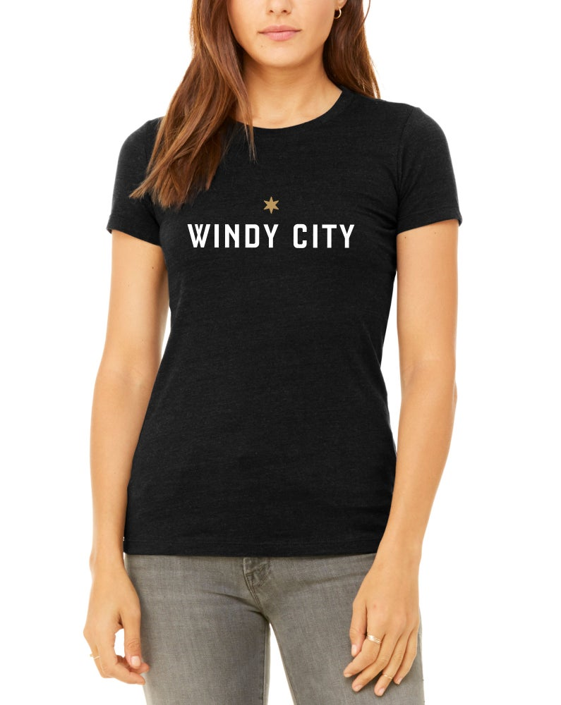 Image of Womens Windy City T-Shirt (Black)