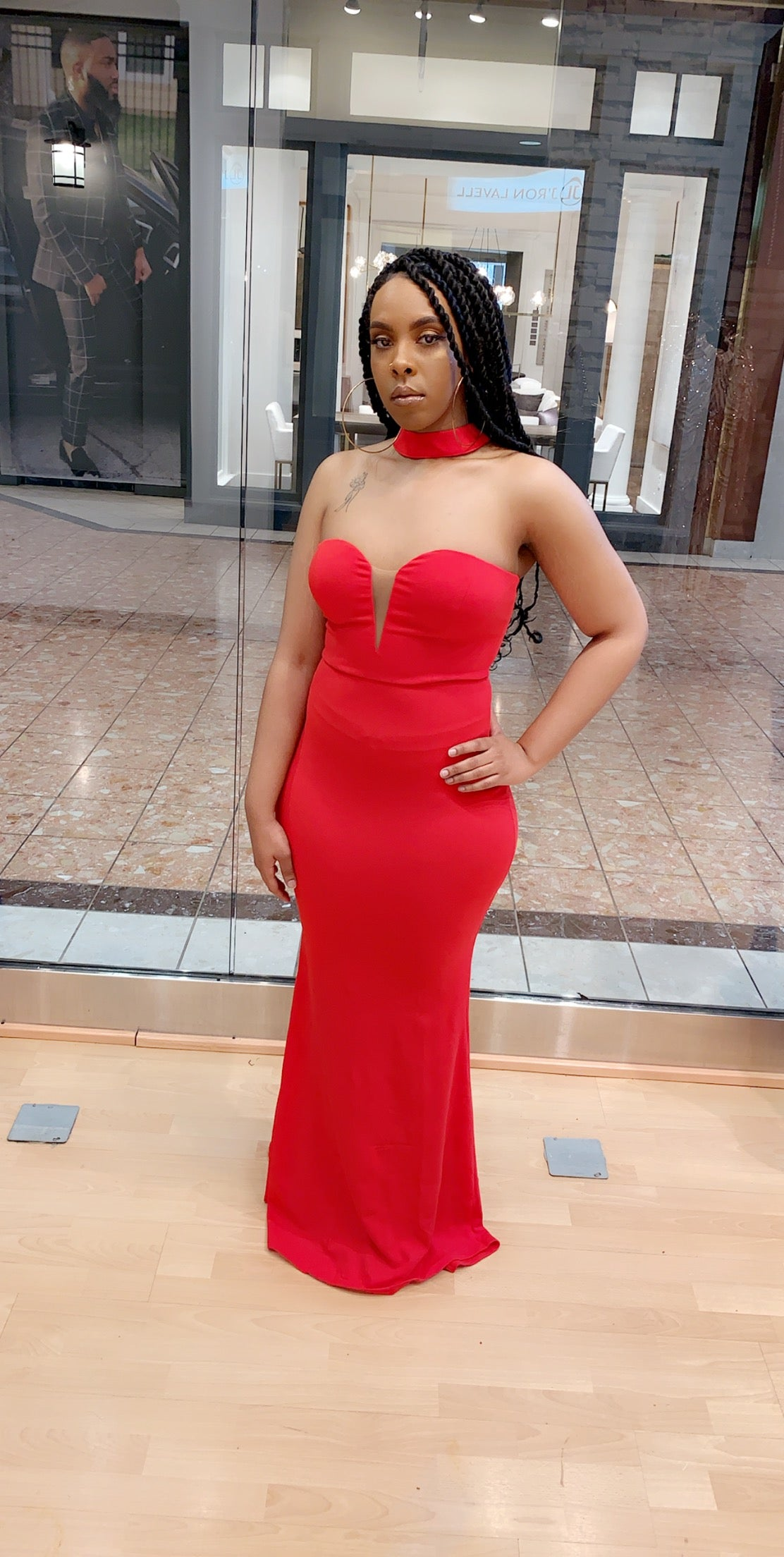 Image of Bodycon red gown
