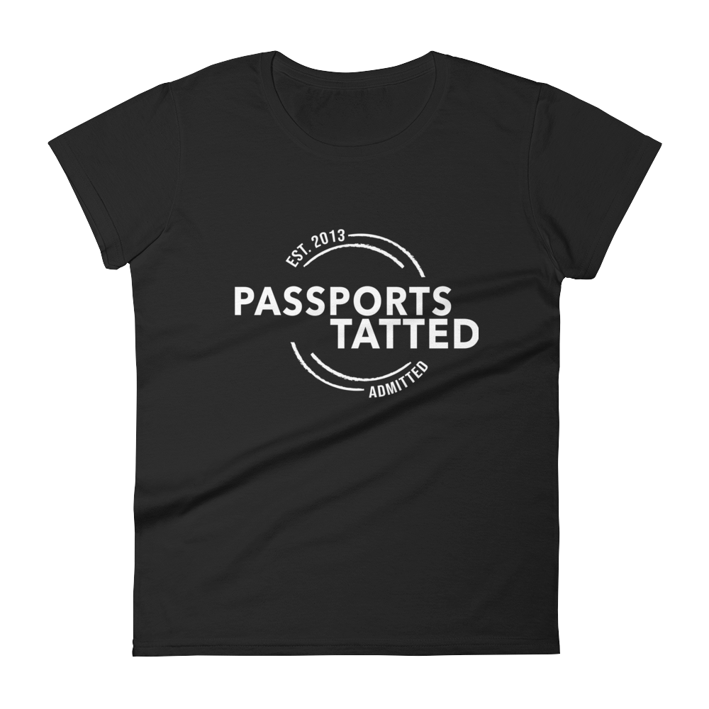 Image of Women's Passports Tatted T-Shirt (Black)