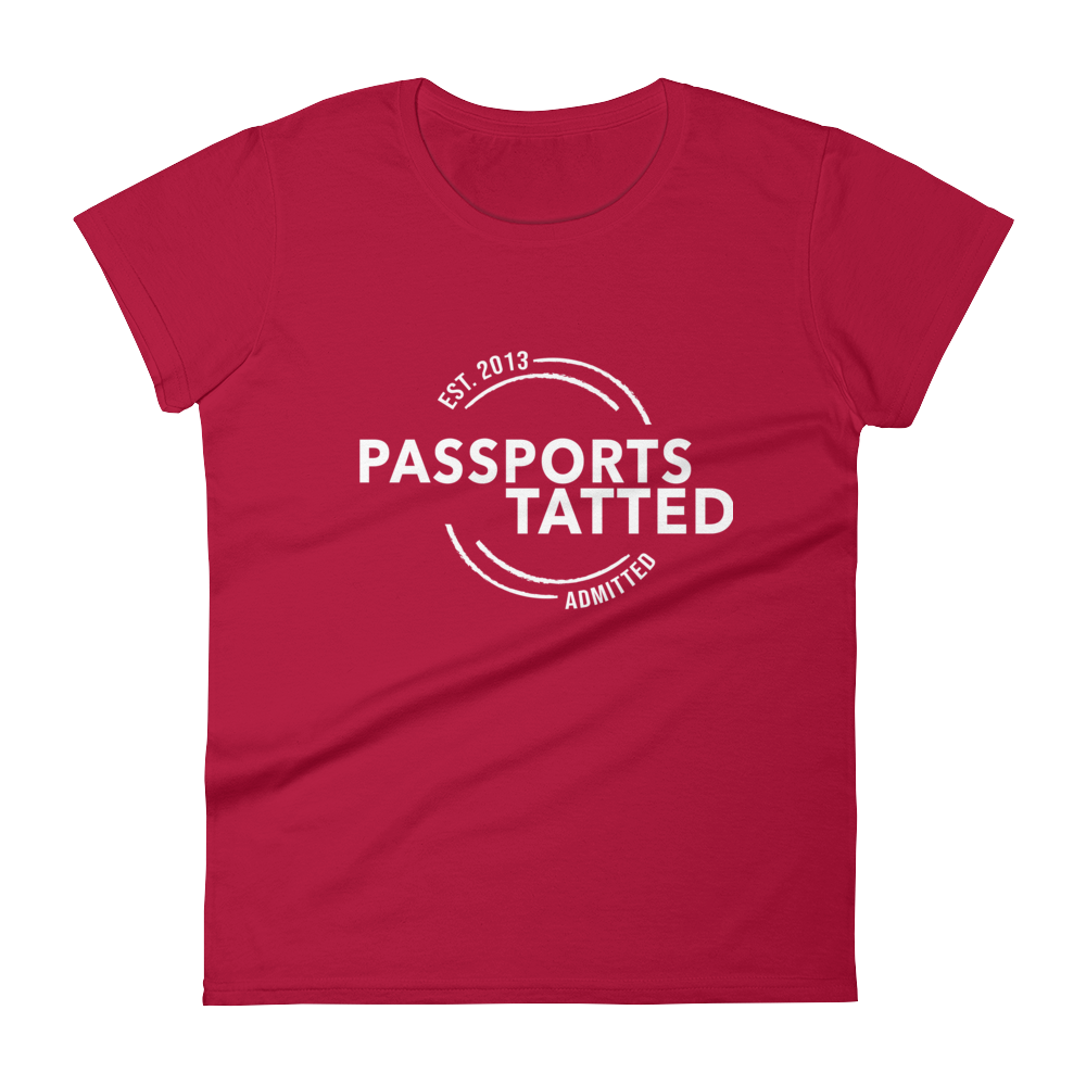 Image of Women's Passports Tatted T-Shirt (Red)