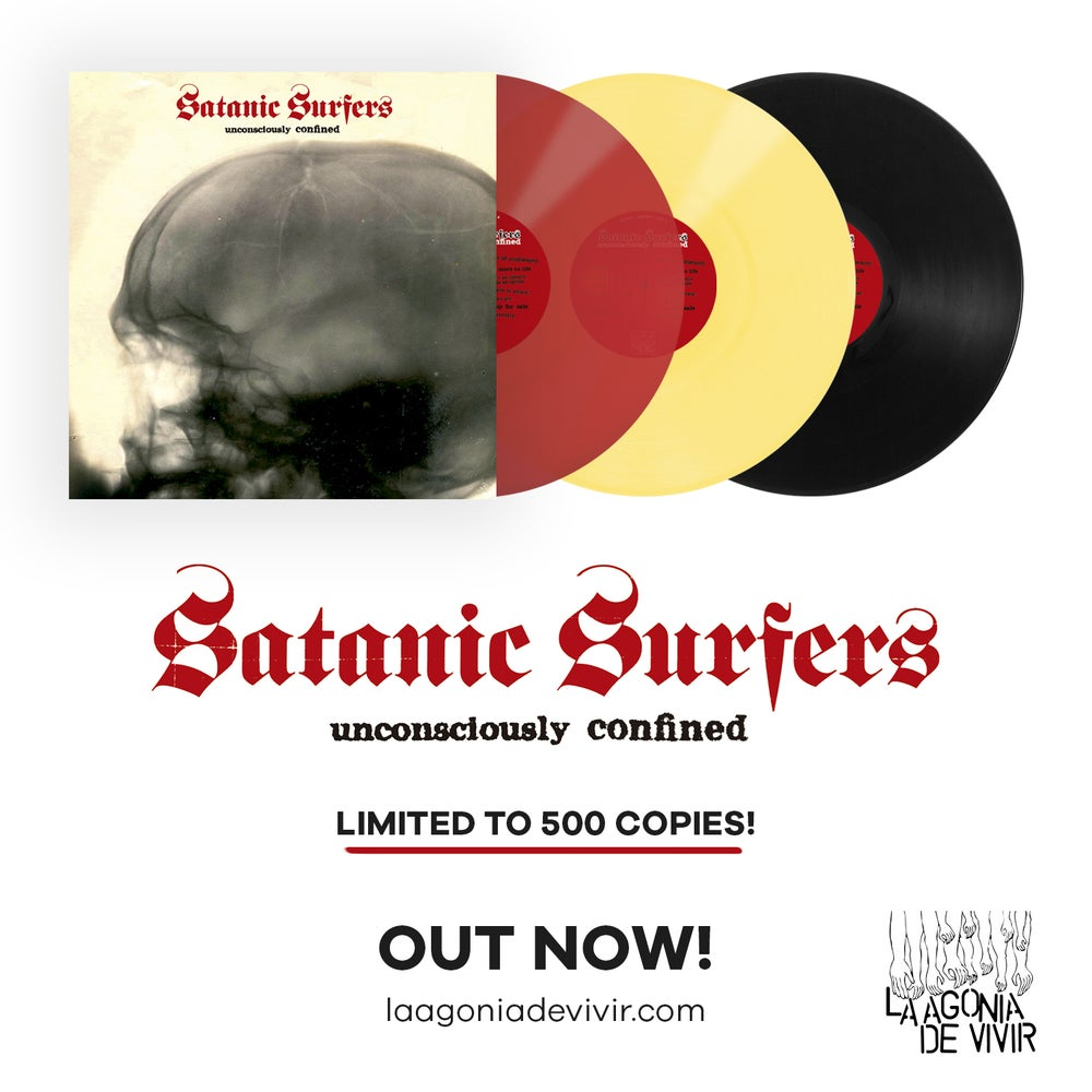 "Image of LADV107 - SATANIC SURFERS ""unconsciously confined"" LP REISSUE"