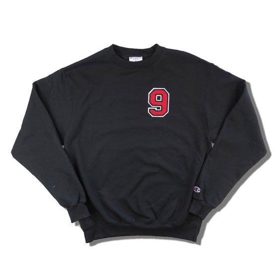 "Image of RED9INE x CHAMPION CHENILLE ""9"" CREWNECK"
