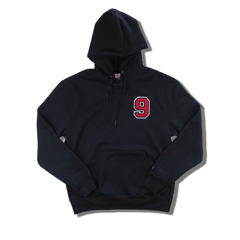 "Image of RED9INE x CHAMPION CHENILLE ""9"" HOODIE"