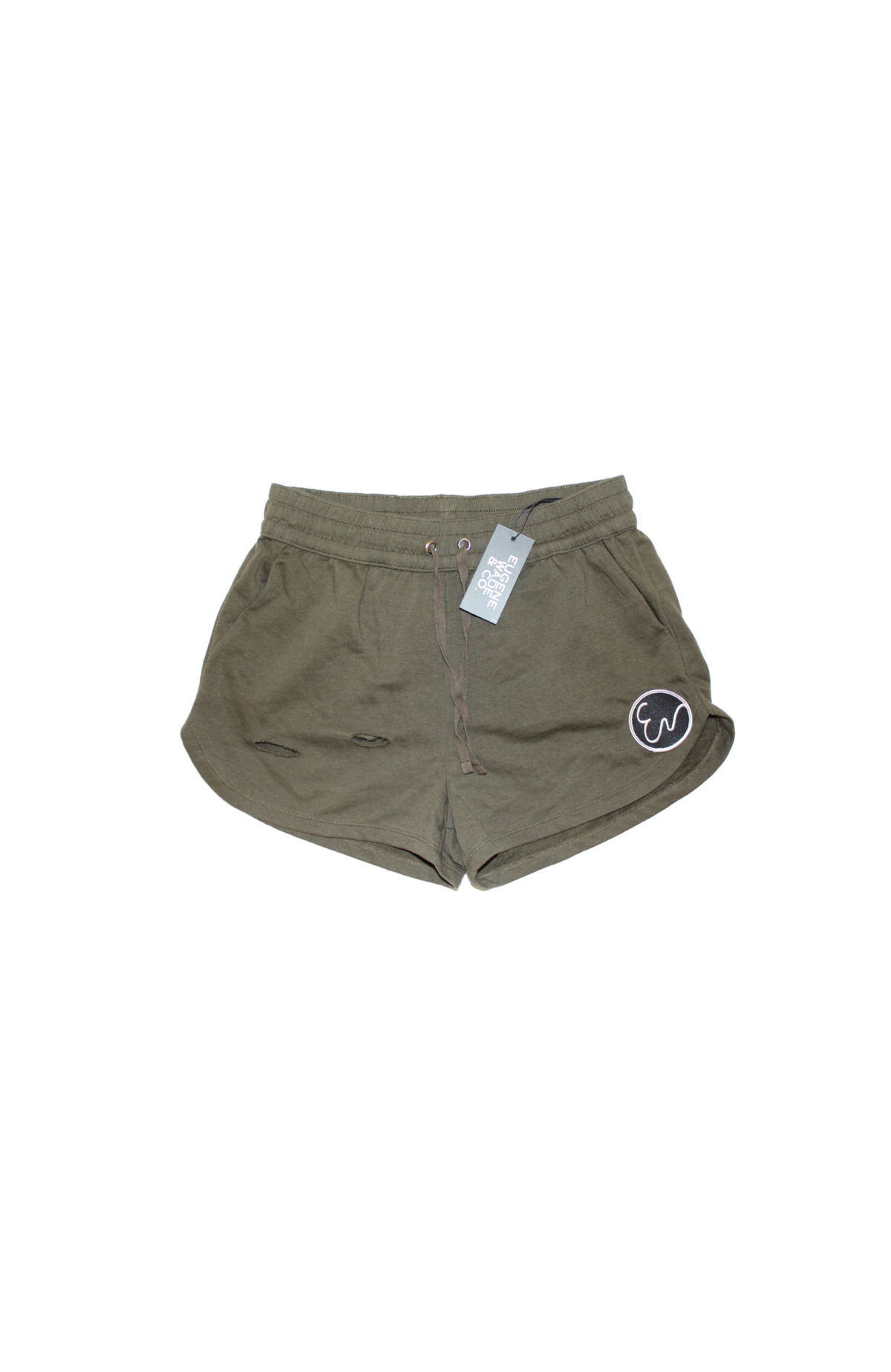Image of DISTRESSED SHORTS (olive)