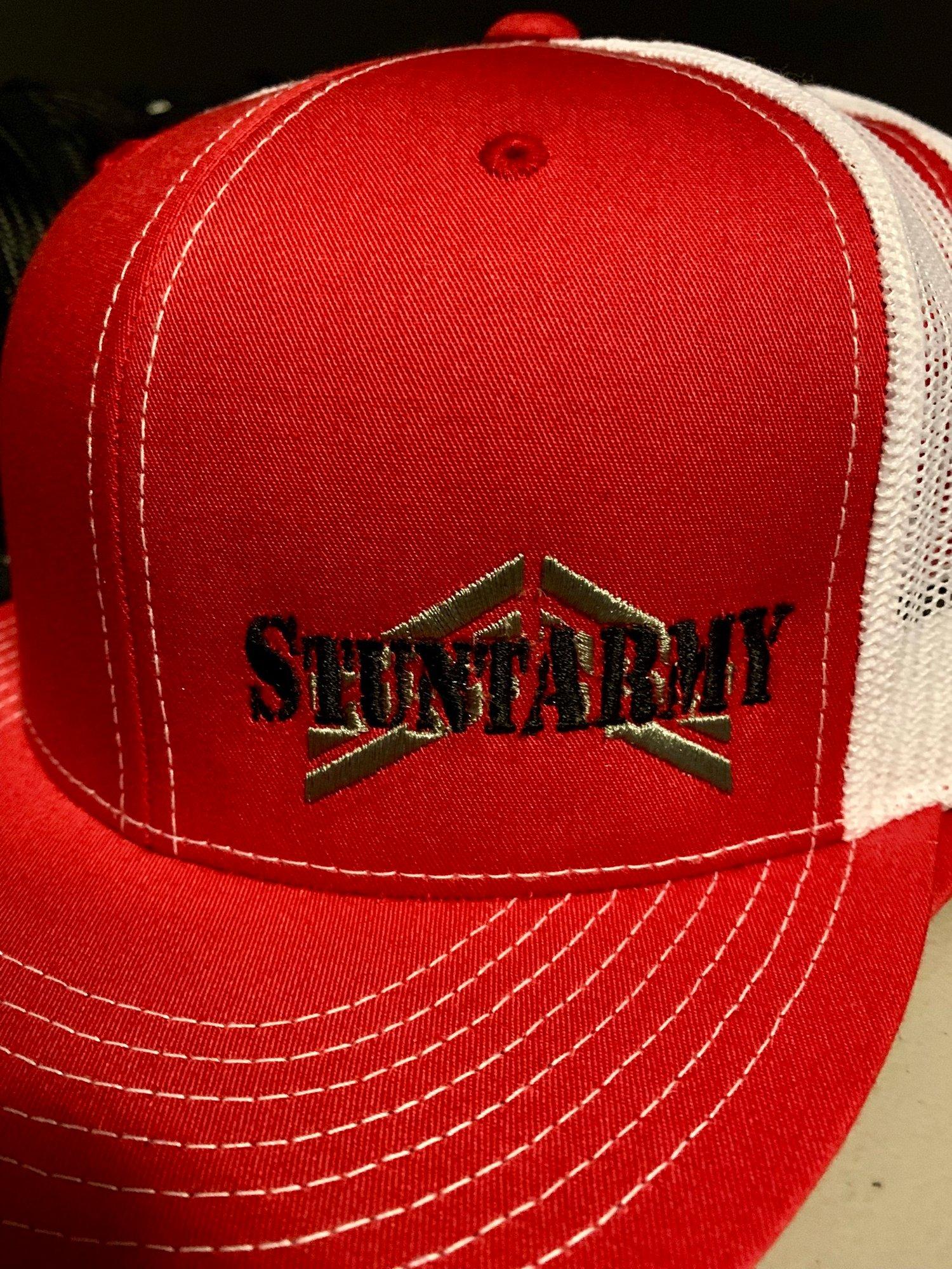 Image of StuntARMY Snapback-Red/White