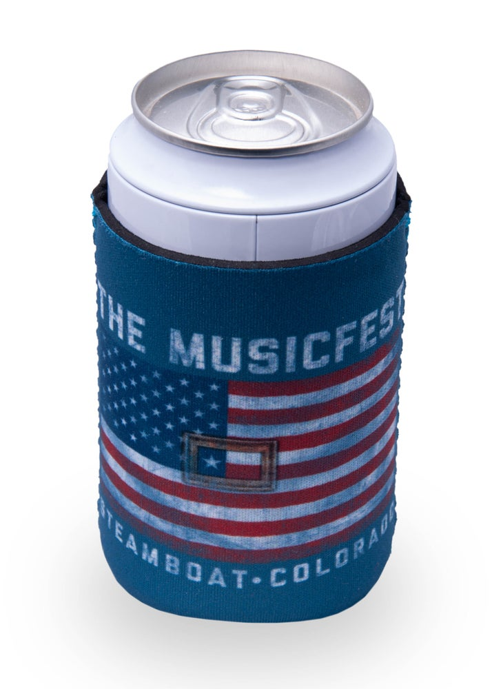 Image of American Flag MusicFest Koozie