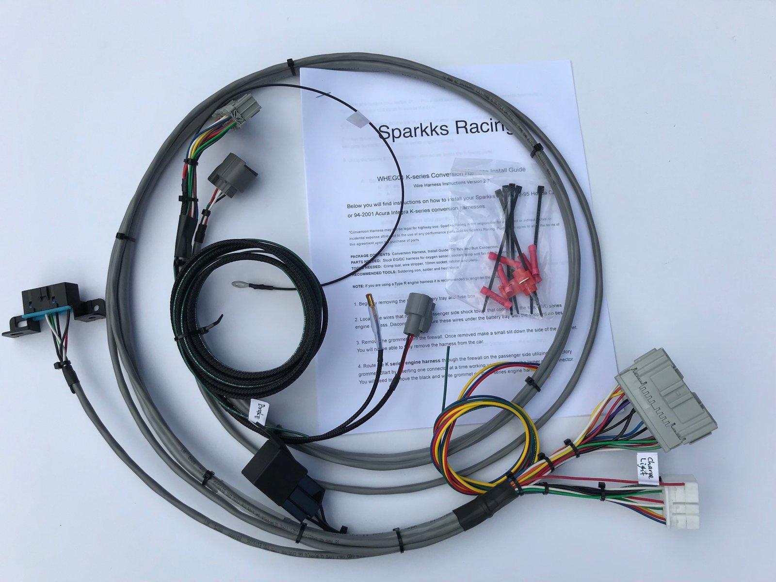 sparkks racing honda kseries conversion harness 92 95 civic or 94  image of sparkks racing honda kseries conversion harness 92 95 civic or 94 2001