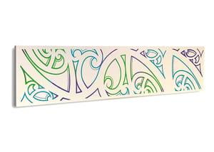 Image of Kowhaiwhai Paua on cream