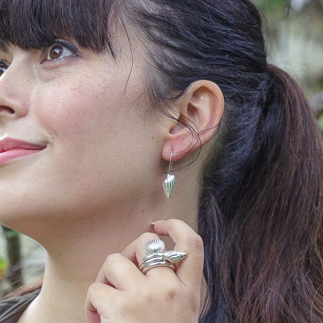 Image of Conical Shell Drop Earrings