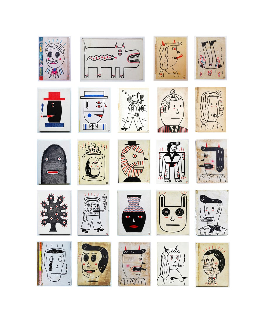 Image of 16 INKY BITS $50 - $65 (each)