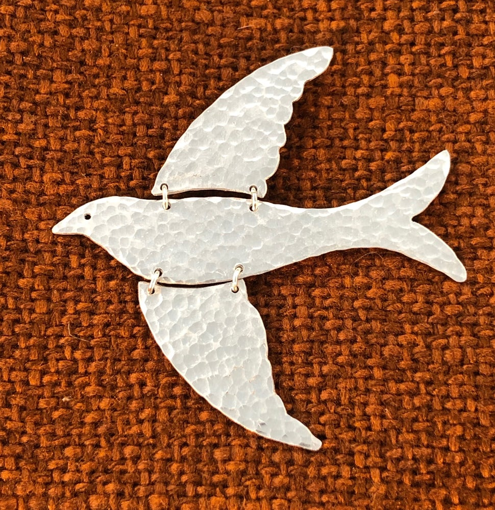 Image of Flying Bird Brooch or necklace.