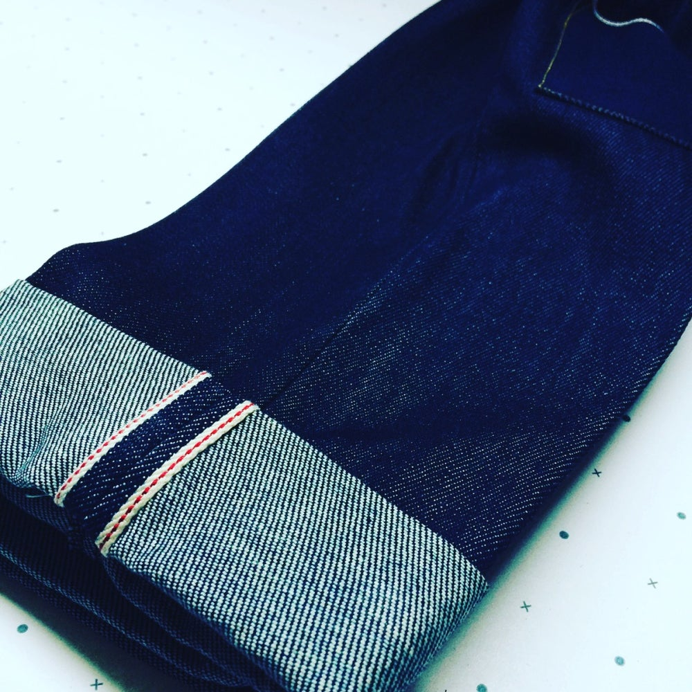 Image of DAD SELVEDGE RAW DENIM JEANS