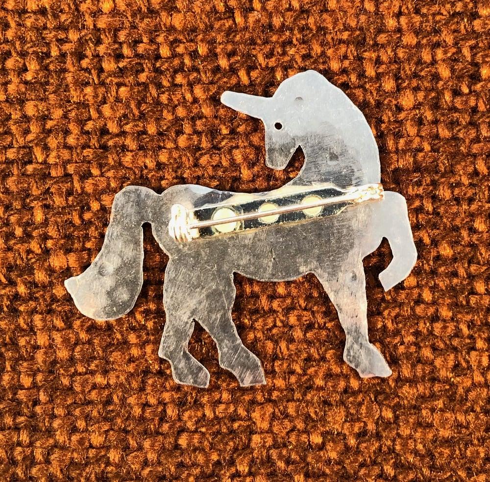 Image of Unicorn Brooch or Pendant