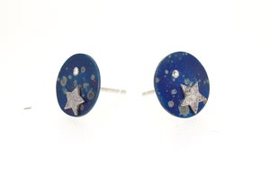 Image of {NEW}Stella Nova - Galaxy Stud Earrings