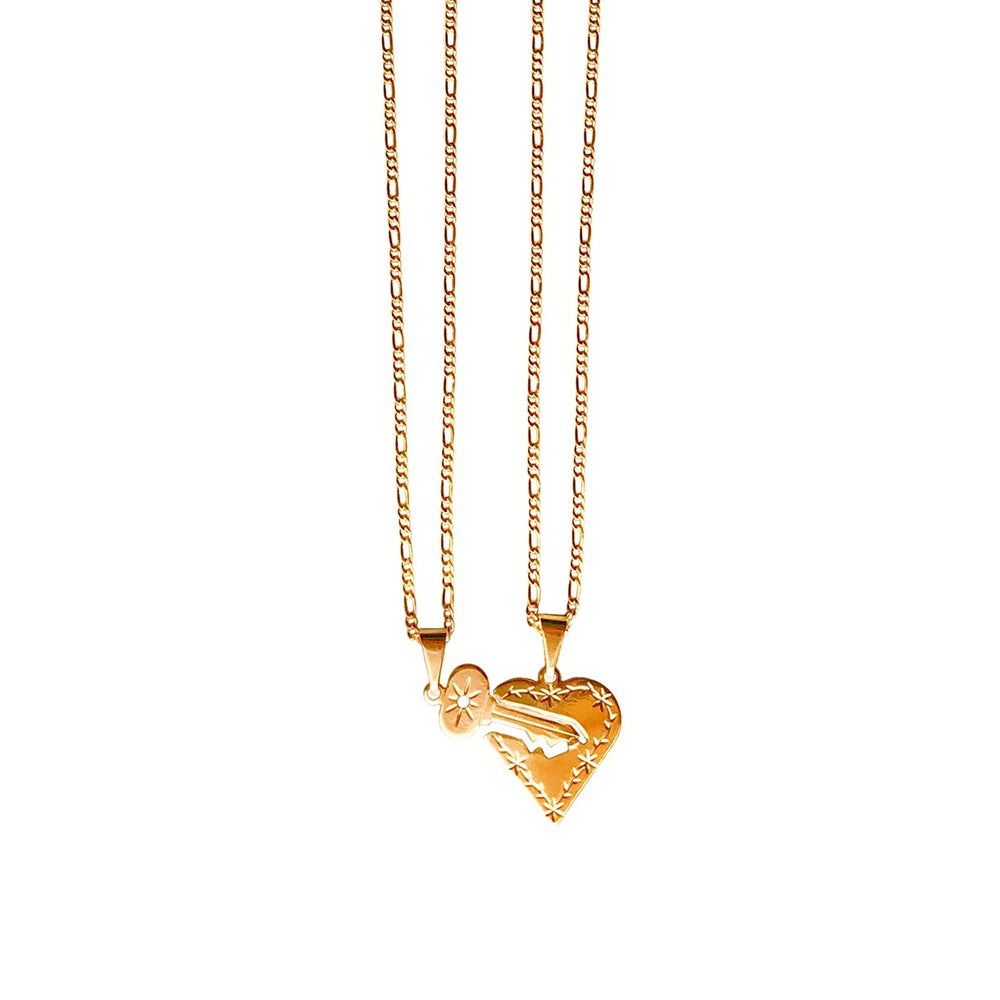 Image of Heart On Lock Necklace