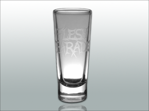 "Image of Flesh Parade ""Etched Logo"" Shot Glass"