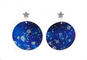 Image of {NEW} Stella Nova - Large Galaxy Drop Earrings