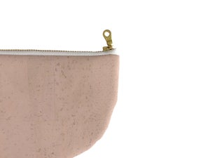 Image of Paula Half Moon Pouch In Pink Cork