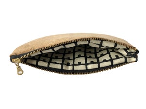 Image of Paula Half Moon Pouch In Natural Cork