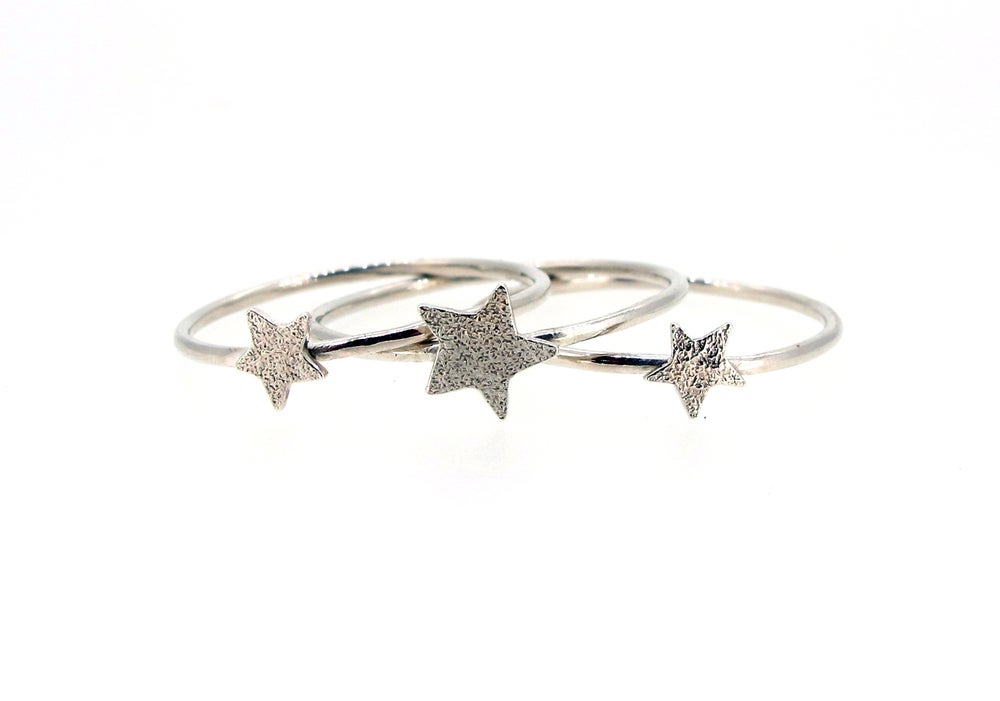 Image of {NEW}Stella Nova –3 Star Stacking Rings