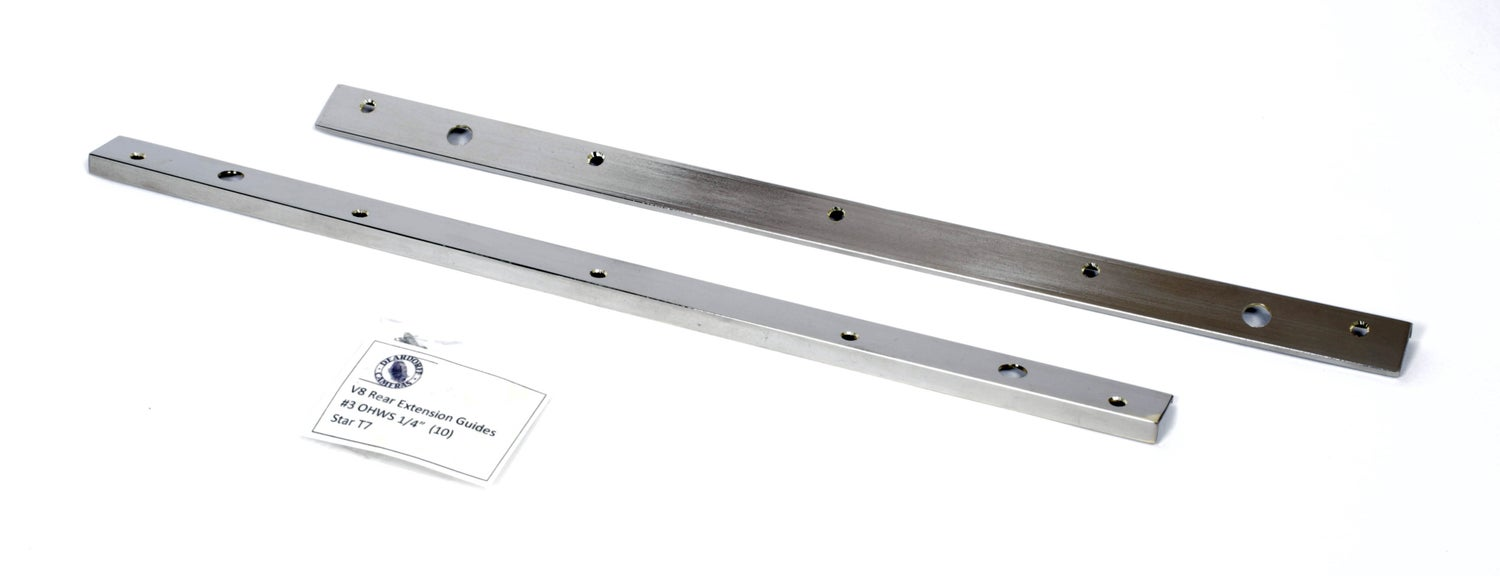 Image of Deardorff V8 8X10 Rear Extension Guides with Screws (pair)