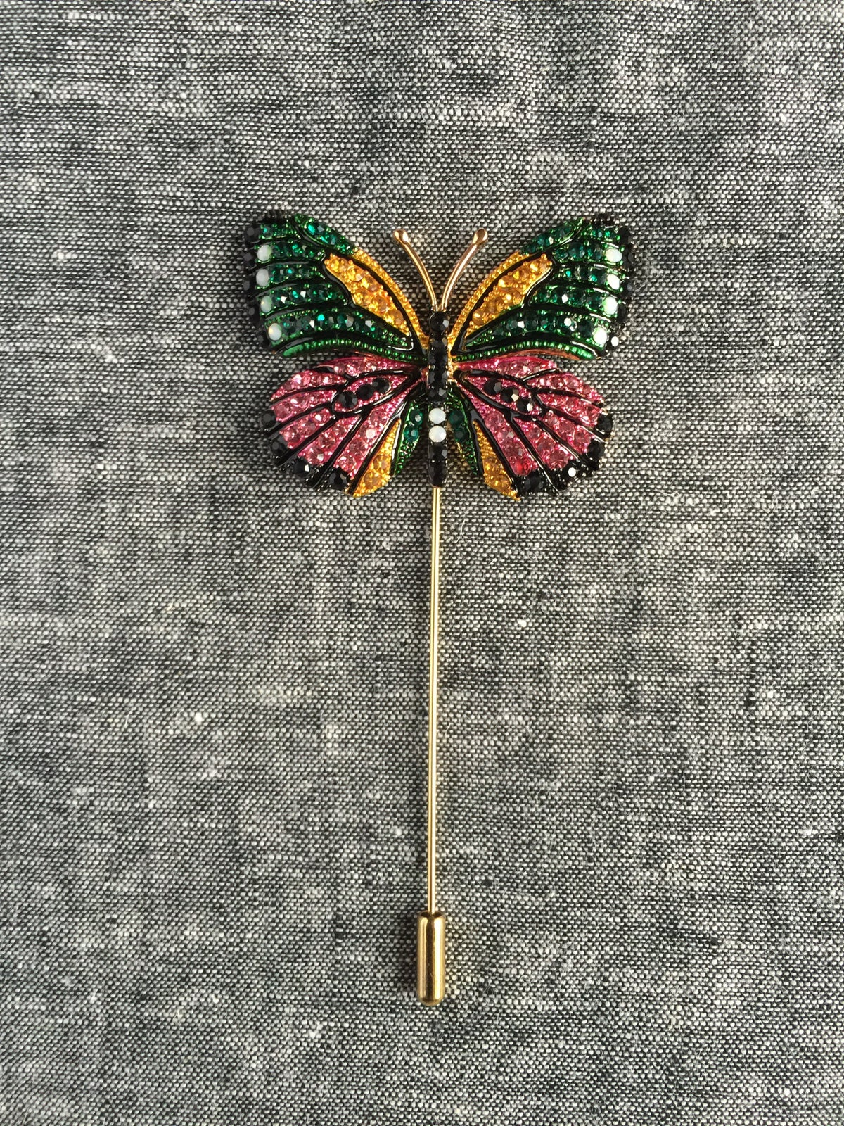 Image of Butterfly Lapel Pin (Pink/Green/Black/Golden)