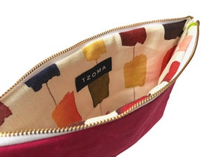 Image of Gloria Clutch In Hot Pink Hand Waxed Canvas