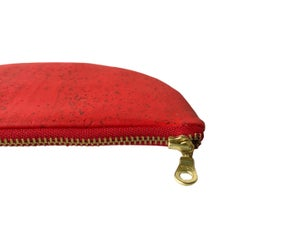 Image of Paula Clutch In Red Cork