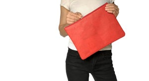 Image of Gloria Clutch In Red Cork