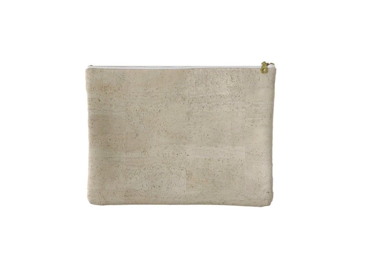 Image of Gloria Clutch In White Cork