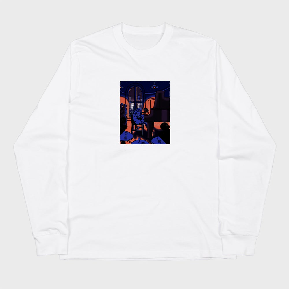 Image of Peace Piece - Bill Evans, (white long sleeve t-shirt)