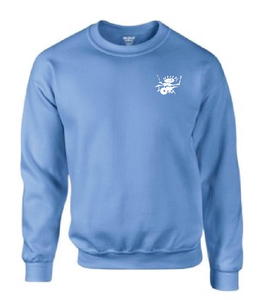 Image of King Tut's Drummer Logo sweatshirt (light blue)