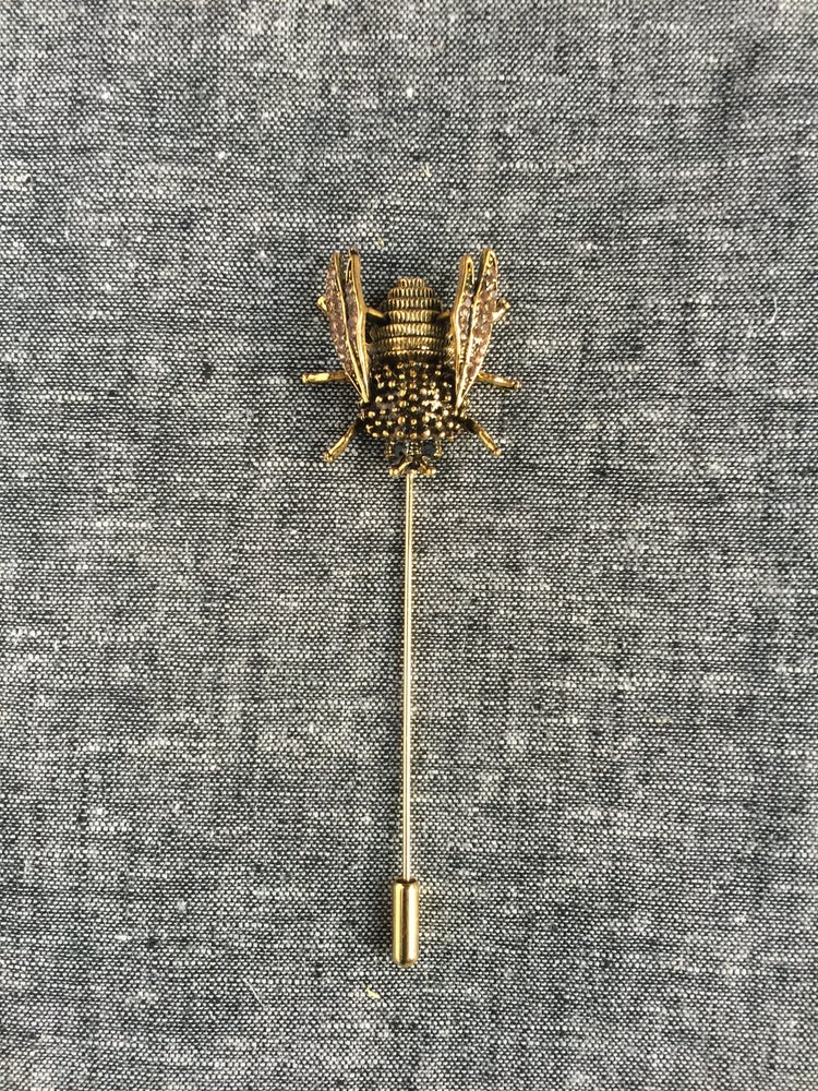 Image of Antique Tribal Bee Lapel Pin