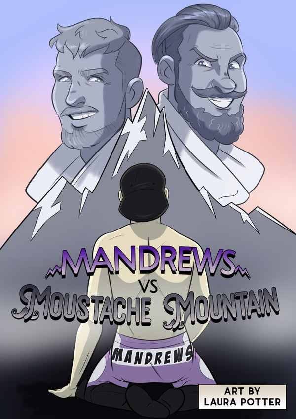 Image of Mandrews vs Moustache Mountain Comic Book