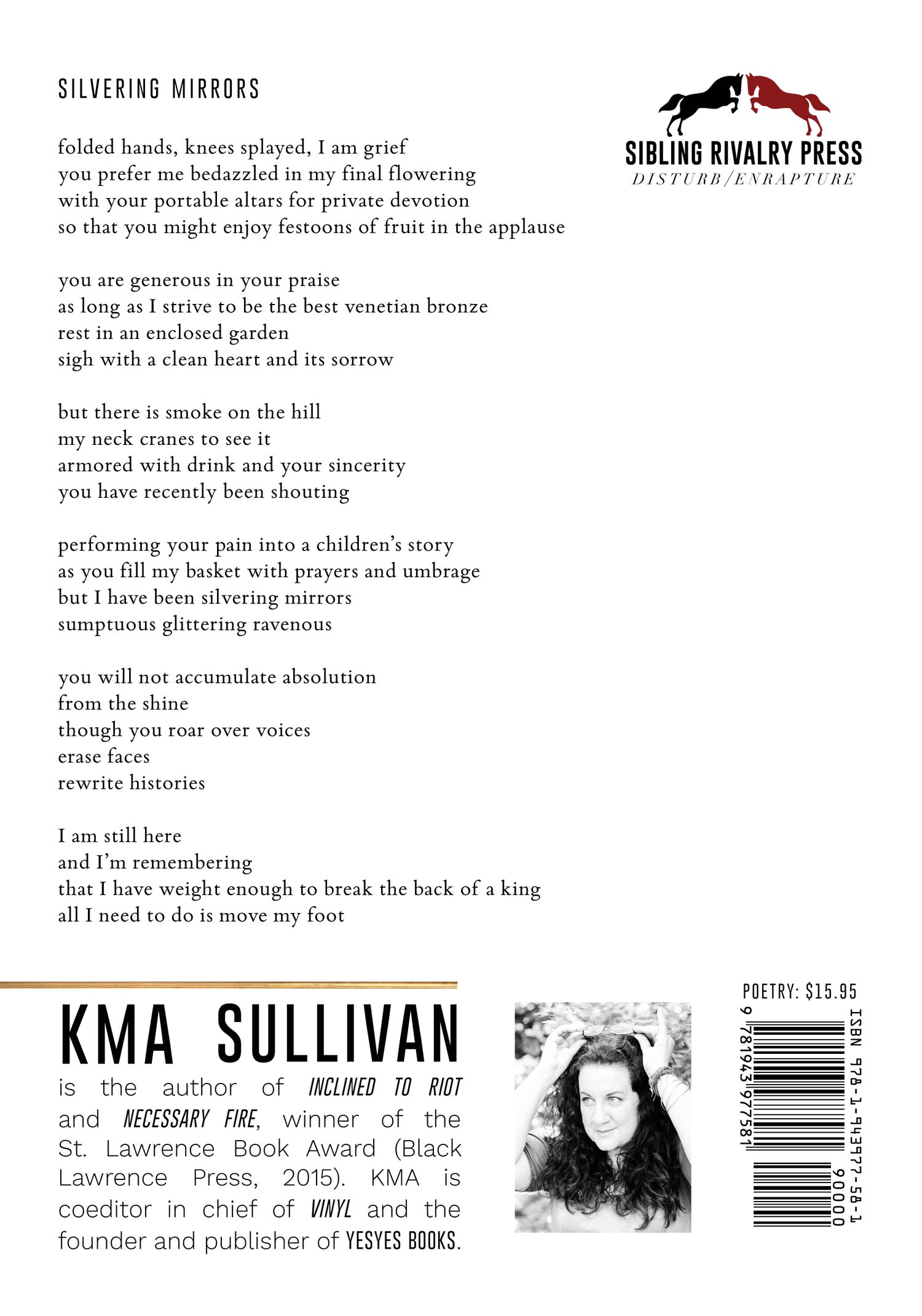 Image of Inclined to Riot by KMA Sullivan