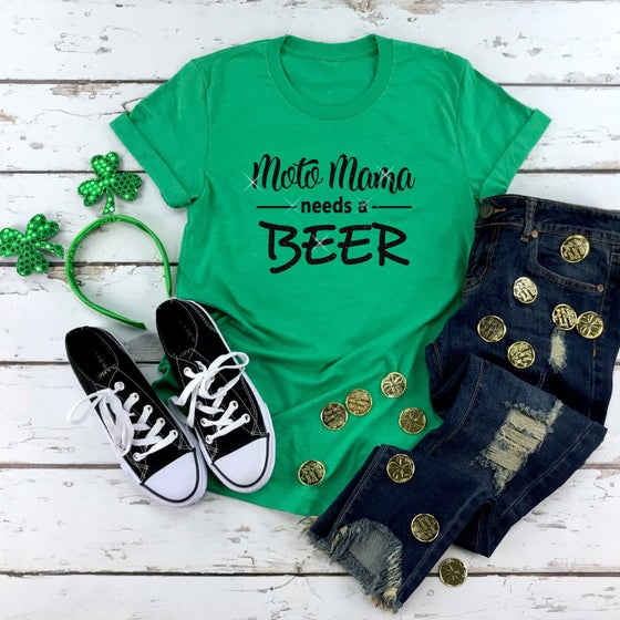 Image of Moto Mama Needs a Beer Shirt