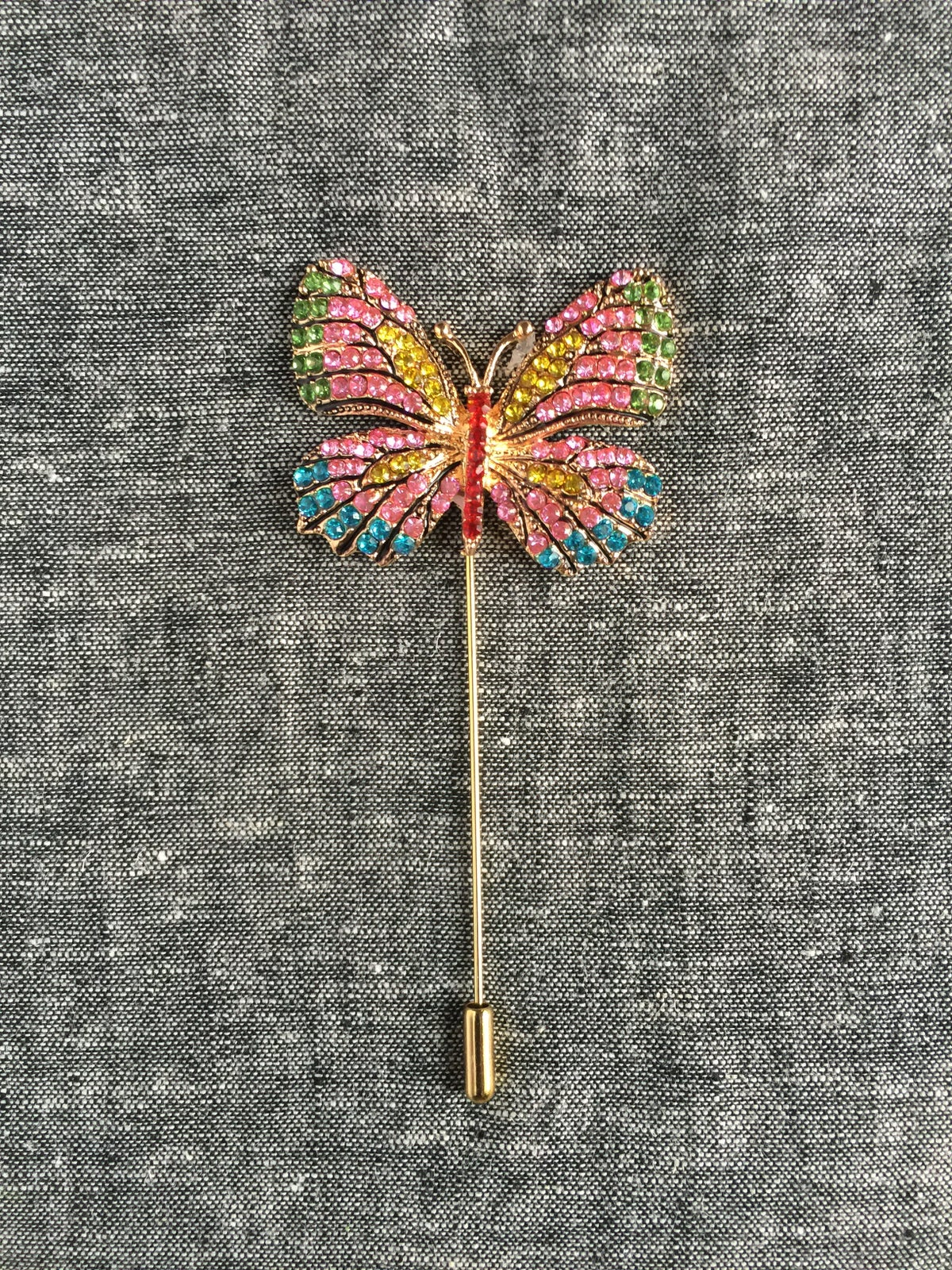 Image of Butterfly Lapel Pin (Pink/Green/Blue/Yellow)