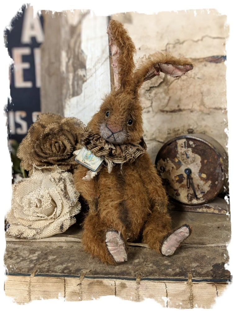 "Image of New Design::  14"" Old frumpy Mohair Rabbit by Whendi's Bears"