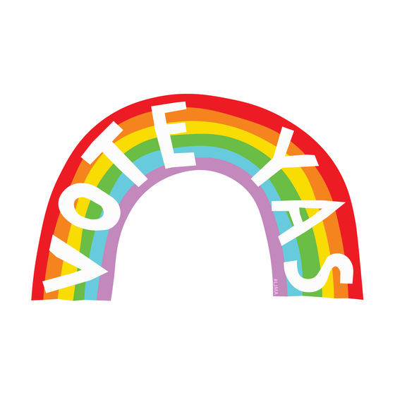 Image of Vote Yas Rainbow Sticker